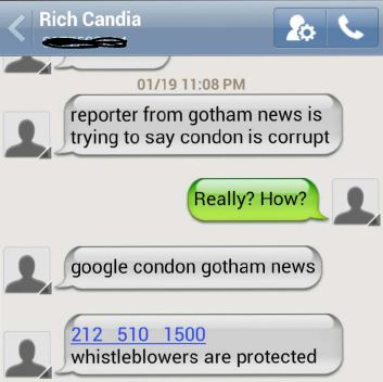 Richard Candia Text to Portelos to Investigate Principal about Time Cards