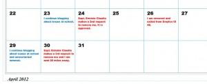 Claudio Calendar 2