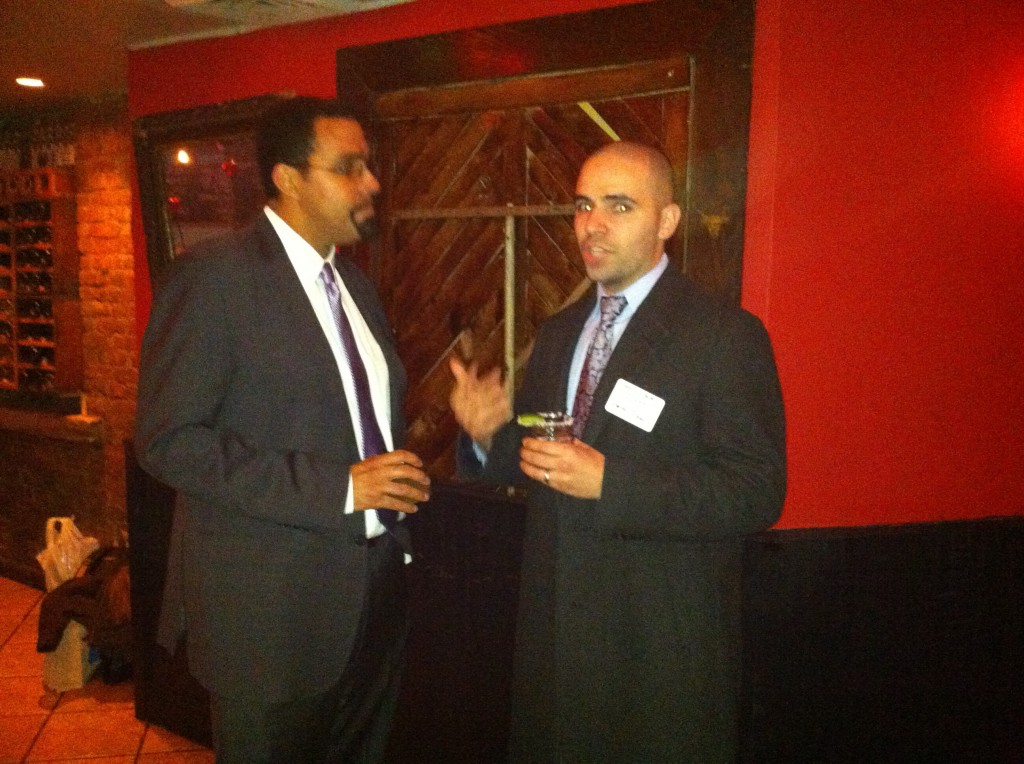 Commissioner John King and Francesco Portelos