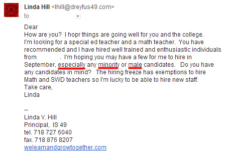 Hill Looking for Minority Males