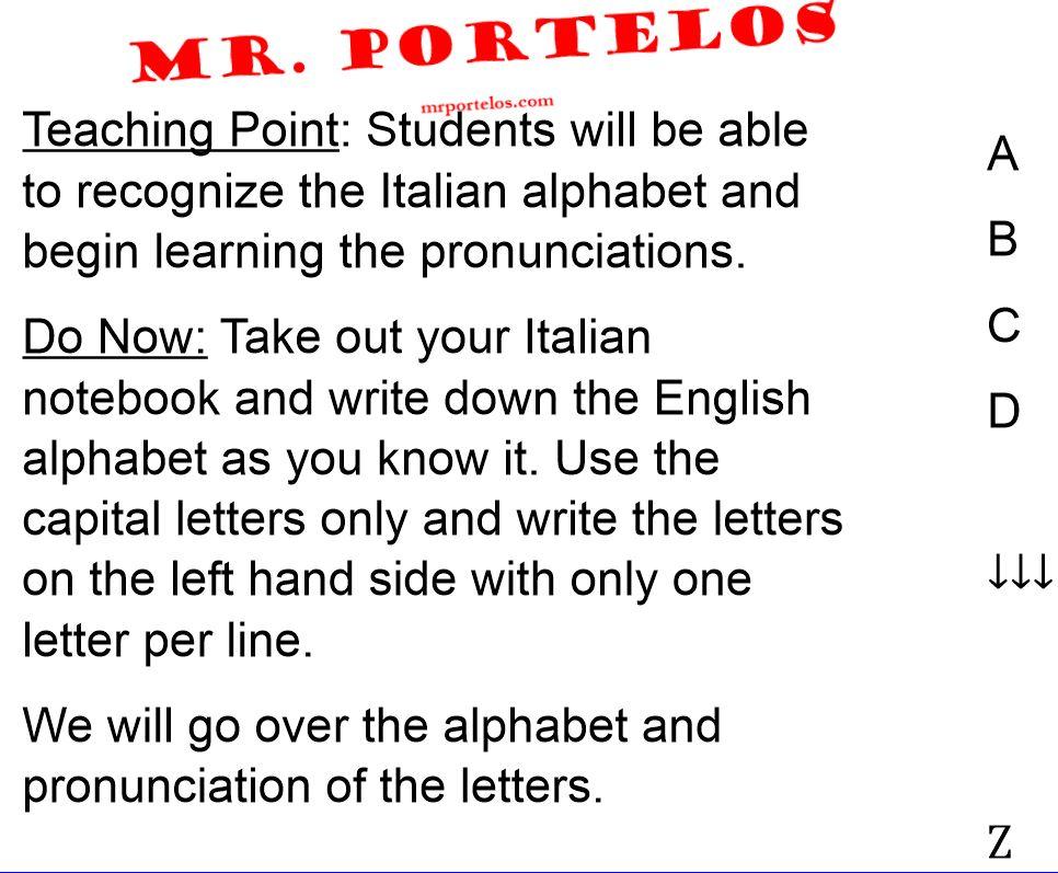 Italian Lesson slide