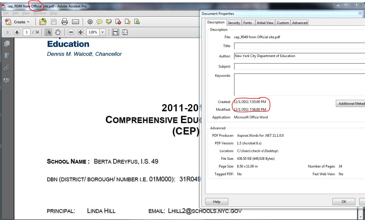 Official 2011-2012 CEP
