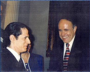 "1997 ""Teacher of the Year"" David Pakter and NYC Mayor Giuliani"