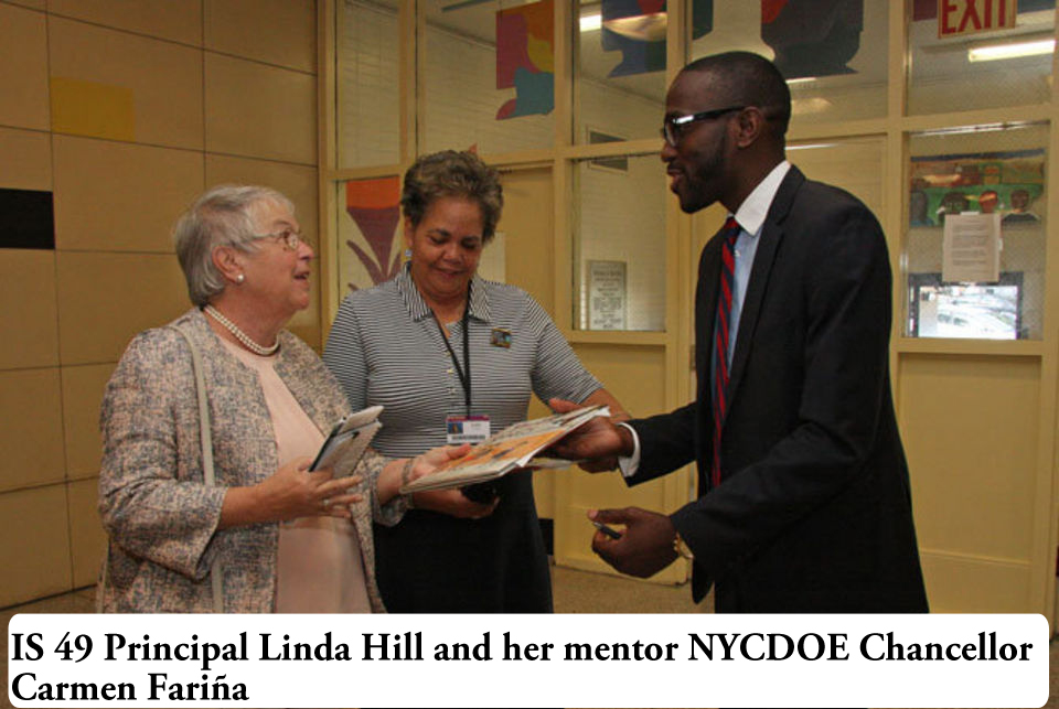 Principal Linda Hill and Chancellor Carmen Farina- September 2014
