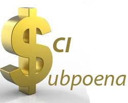 SCI Subpoena