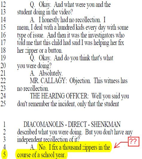 DOE Attorney Jordana Shenkman Questioning AP Denise Diacomanolis at 3020-a